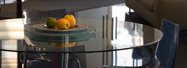 Tampos de vidro trazem mais segurança e elegância à mesa